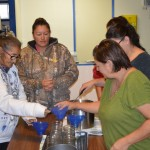 Participants at our Crane River workshop canning homemade beef stew.